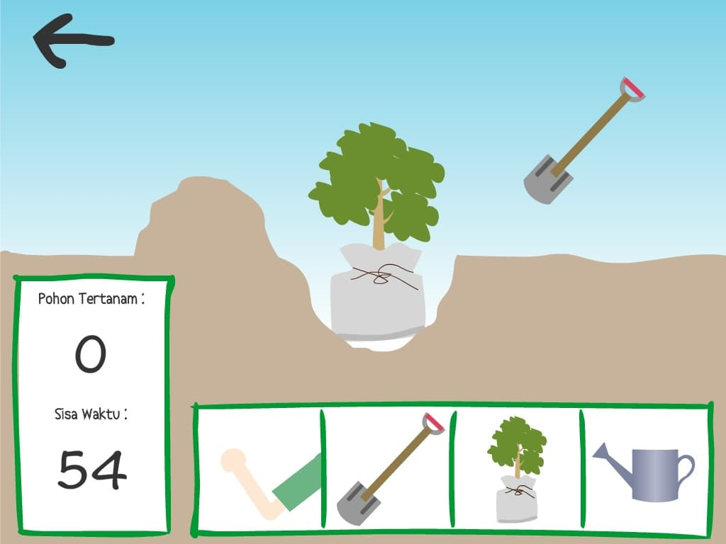 Planting tree mini-game